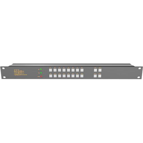 Matrix Switch 16 x 4 3G-SDI Video Routing Switcher with Button Panel (1 RU)