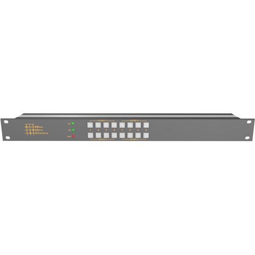 Matrix Switch 4 x 4 3G-SDI Video Routing Switcher with Button Panel (1 RU)