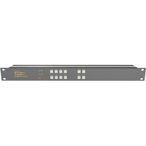 Matrix Switch 8 x 4 3G-SDI Video Routing Switcher with Button Panel (1 RU)