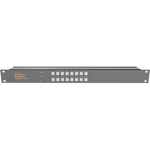 Matrix Switch 8 x 8 3G-SDI Video Routing Switcher with Button Panel (1 RU)