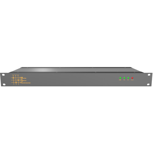 Matrix Switch 16 x 16 Composite Analog Video Router with Status Panel (1 RU)