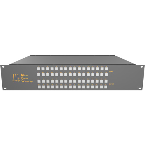 Matrix Switch 32 x 32 Composite Analog Video Router with Button Panel (2 RU)