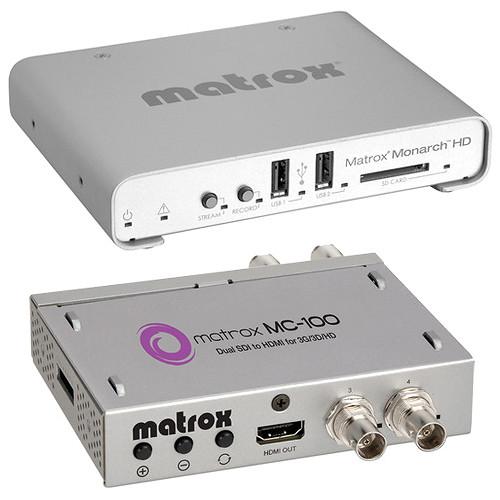 Matrox Monarch HD & MC-100 Mini SDI to HDMI Converter Kit