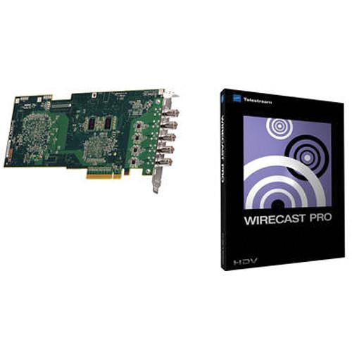 Matrox VS4 Quad HD Card & Wirecast Pro 4 for Windows Kit