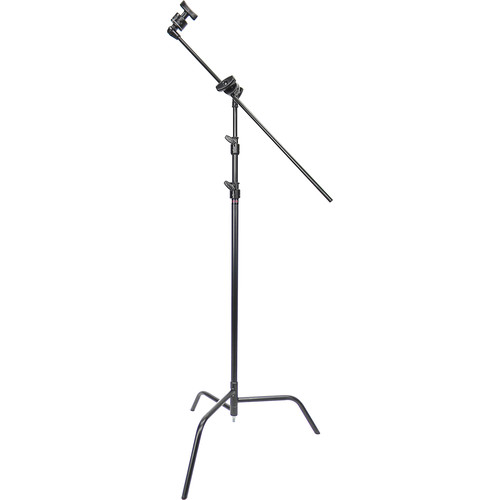 """Matthews 40"""" C-Stand with Spring-Loaded Base, Grip Head, & Arm Kit (10.5', Black)"""