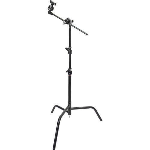 """Matthews 20"""" Double Riser C-Stand with Grip Head and Arm (Black Finish)"""