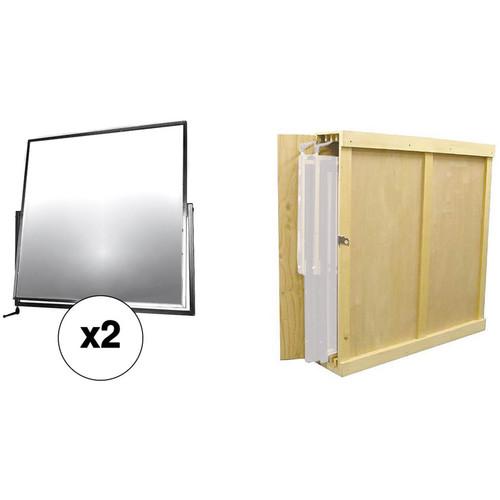 "Matthews Two 42"" Mirrored Reflectors with Storage Box Kit"