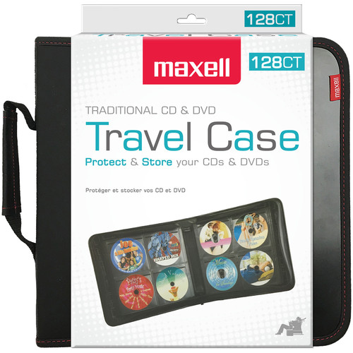 Maxell CD & DVD Travel Case (128-Count)