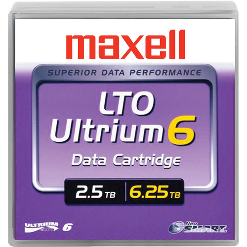 Maxell LTO Ultrium 6 Tape Cartridge Library Pack (20-Pack) (Black)