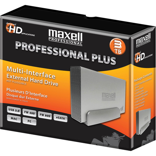 Maxell 665386 3TB Professional Plus Multi-Interface External Hard Disk Drive