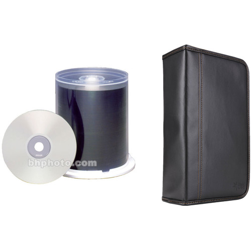 Maxell CD-R 700MB Write-Once Silver Inkjet Printable Recordable 48x Disc Kit with 100-Capacity Disc Wallet