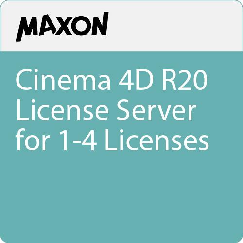 Maxon Cinema 4D R20 License Server for 1-4 Licenses (Download)