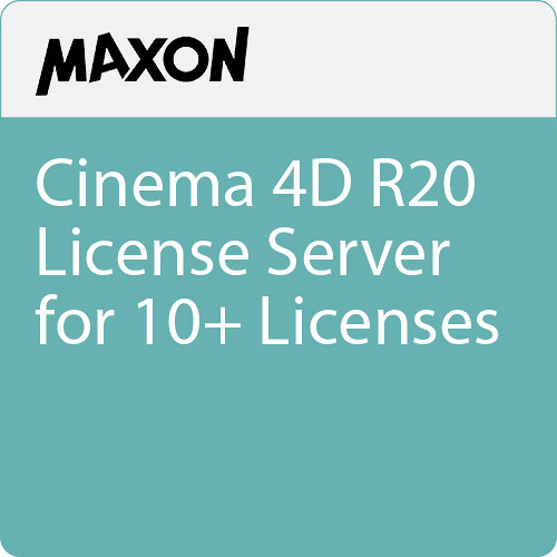 Maxon Cinema 4D R20 License Server for 10+ Licenses (Download)