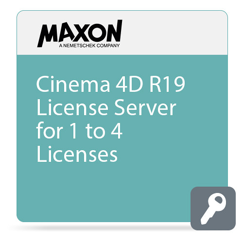 Maxon Cinema 4D R19 License Server (1-4 Licenses, Download)