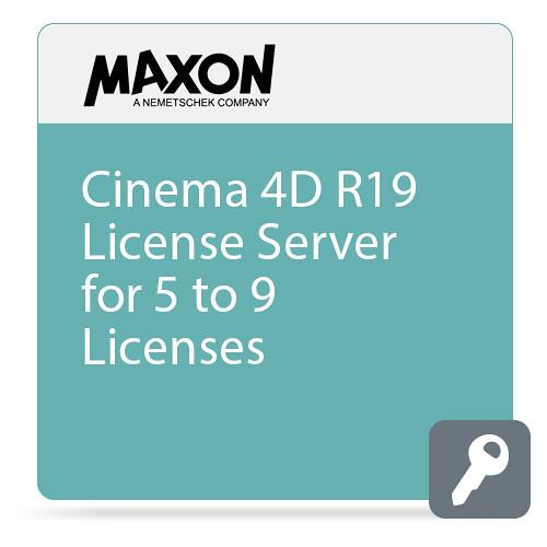 Maxon Cinema 4D R19 License Server (5-9 Licenses, Download)