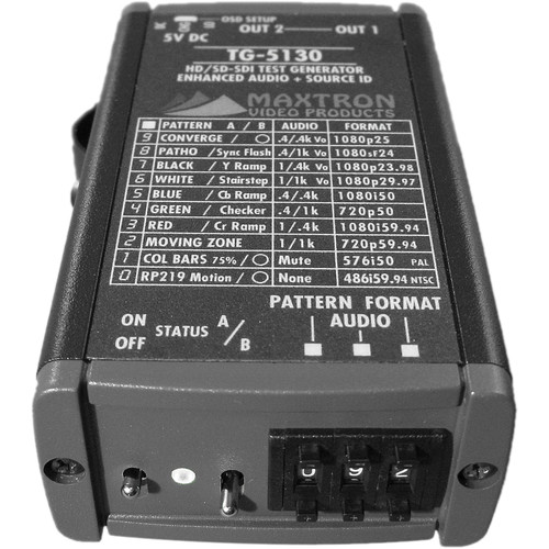 Maxtron TG-5130 Multi-Format SD/HD-SDI Test Signal Generator