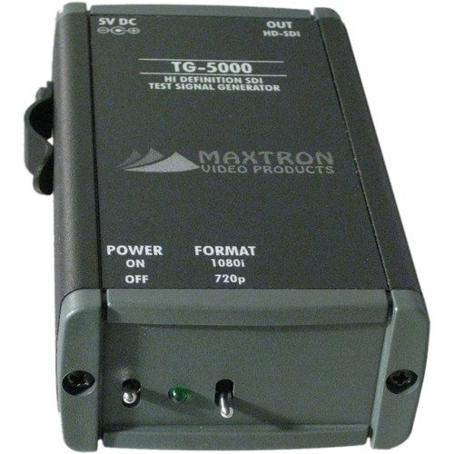 Maxtron TG-5000AB Dual-Format HD-SDI Pattern Generator with Internal Lithium-Ion Battery