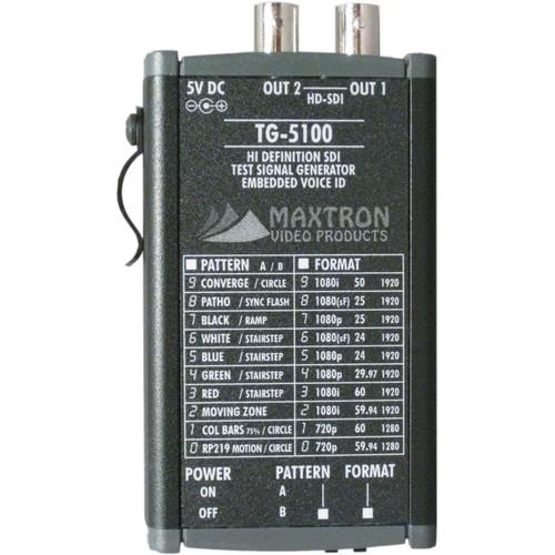 Maxtron TG-5100B Multi-Format HD-SDI Pattern Generator with Internal Lithium-Ion Battery
