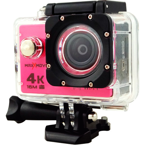 MaxxMove Rize H4 4K Action Camera (Pink)