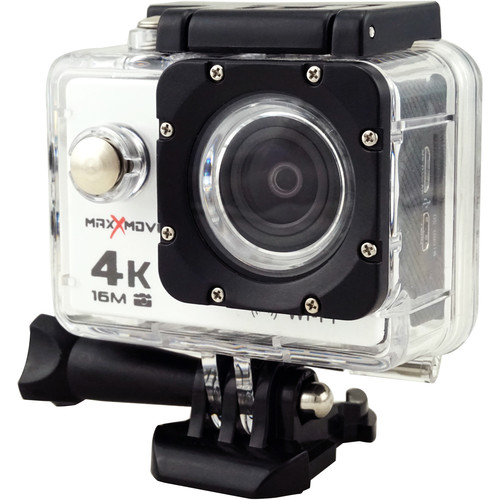 MaxxMove Rize H4 4K Action Camera (White)