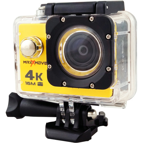 MaxxMove Rize H4 4K Action Camera (Yellow)