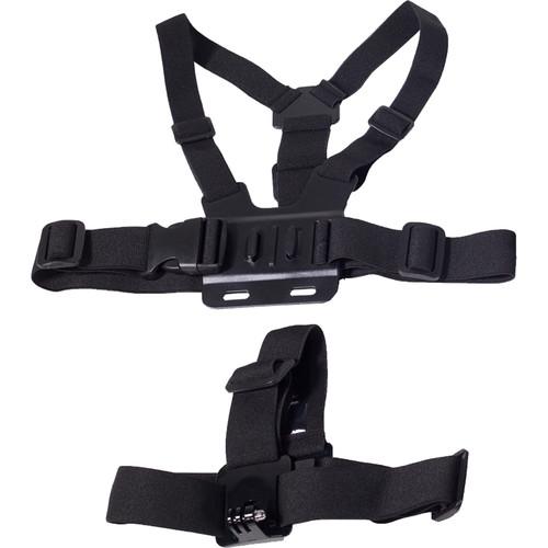 MaxxMove Chest Body Strap & Head Strap for GoPro HERO