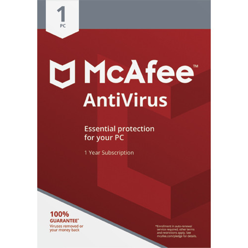 McAfee Antivirus 2018 (Download, 1 PC, 1-Year Subscription)