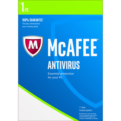 McAfee Antivirus 2017 (1 PC, 1-Year Subscription)