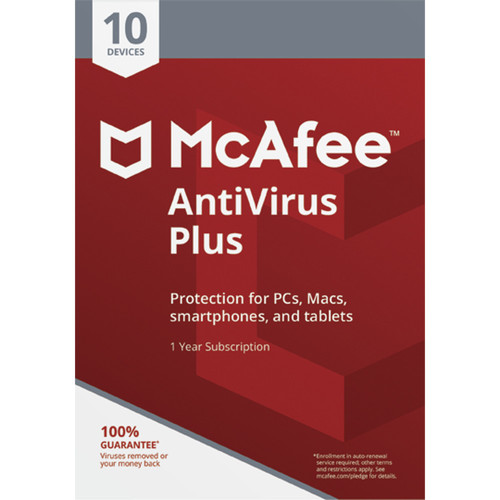 McAfee Antivirus Plus 2018 (Download, 10-Devices, 1-Year Subscription)