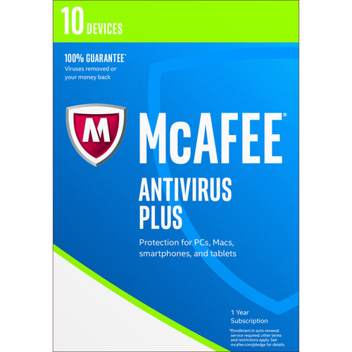 McAfee Antivirus Plus 2017 (10 Devices, 1-Year Subscription)
