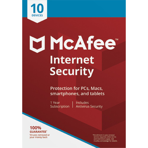 McAfee Internet Security 2018 (Download, 10-Devices, 1-Year)