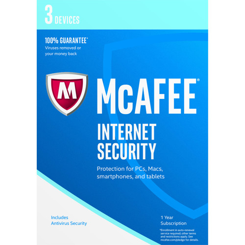 McAfee Internet Security 2017 (3 Devices, 1-Year Subscription, Download)
