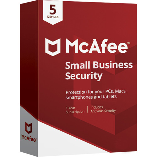 McAfee Small Business Security 2018 (Download, 5 Devices, 1-Year Subscription)
