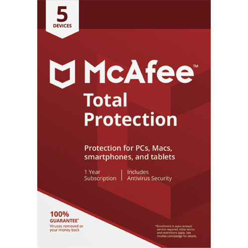 McAfee Total Protection 2018 (Download, 5-Devices, 1-Year)