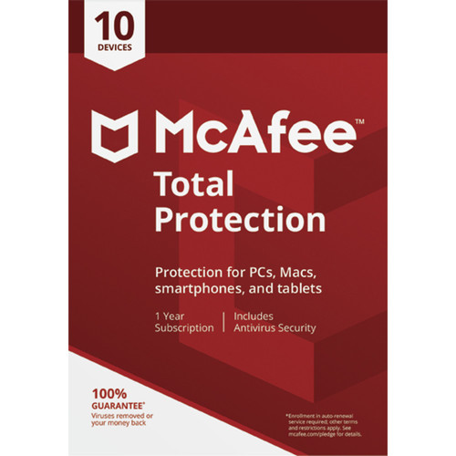 McAfee Total Protection 2018 (Download, 10-Devices, 1-Year)