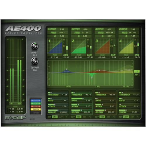McDSP AE400 Active EQ Software Plug-In V5 (Native Version)