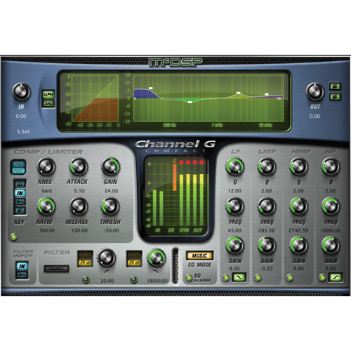 McDSP Channel G Compact v6 - Console Style Dynamics and EQ Plug-In (Native, Download)