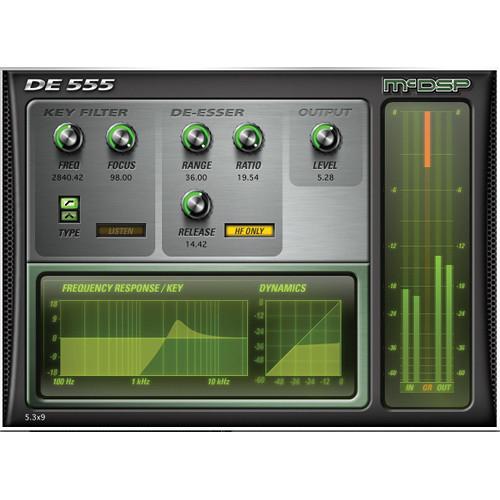 McDSP DE555 v6 - De-Esser Plug-In (HD, Download)