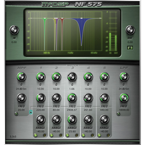 McDSP NF575 v6 Noise Filter - High Resolution Filter Set Plug-In (Native, Download)
