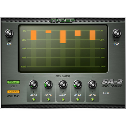 McDSP SA-2 Dialog Processor - Recorded Voice Enhancement Plug-In (HD, Download)