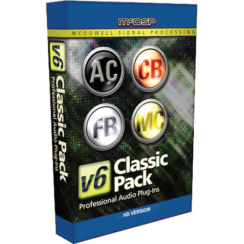 McDSP Classic Pack HD v5 to v6 Upgrade - Music Production Plug-In Bundle (Download)