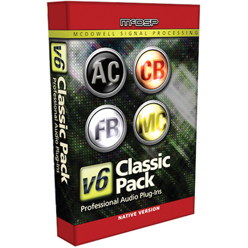 McDSP Classic Pack Native v5 to v6 Upgrade - Music Production Plug-In Bundle (Download)