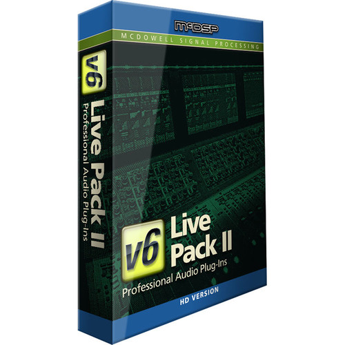 McDSP Live Pack II HD v6 - Live Mixing Plug-In Bundle (Upgrade from Live Pack I, Download)