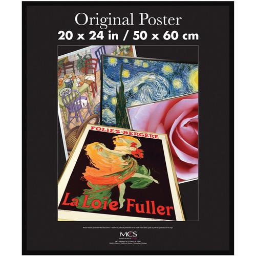"MCS Original Poster Frame with Masonite Back (20 x 24"", Black)"