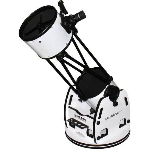"Meade LightBridge Plus 10"" f/5 Truss-Tube Dobsonian AZ Telescope"