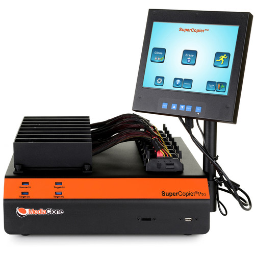 MediaClone Supercopier Desktop  Pro Gen 2 Clone and Erase Unit 8-Port (Multi Scsi/FC/10Giga)