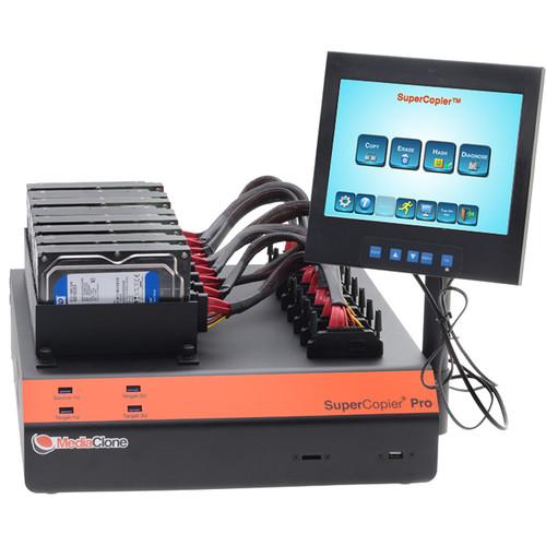 MediaClone SuperCopier Desktop Pro Gen 3 Drive Duplicator with 8 x SAS/SATA Ports