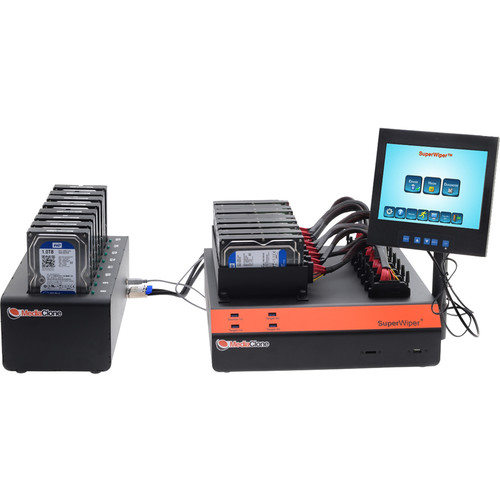 MediaClone SuperWiper Desktop PRO Gen 2 Multi Drives Eraser with 16 SAS/SATA Ports