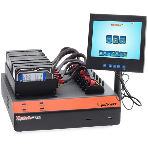 MediaClone SuperWiper Desktop 8 SAS/SATA 10-USB Fast Drive Eraser