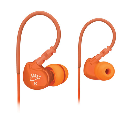 MEElectronics Sport-Fi M6 Memory Wire In-Ear Headphones (Orange)